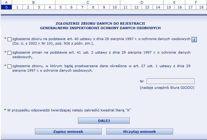 81ff9ad6686780 Opcja 1. Pierwszą opcję należy zaznaczyć jeżeli dokonujemy zgłoszenia zbioru  ...